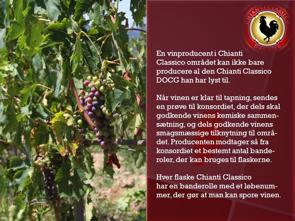 En vinproducent i Chianti Classico området kan ikke bare producere al den Chianti Classico DOCG han har lyst til.
