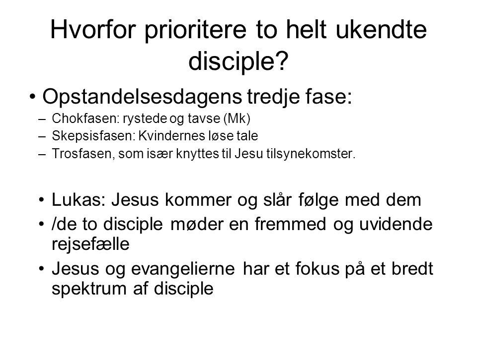 Hvorfor prioritere to helt ukendte disciple