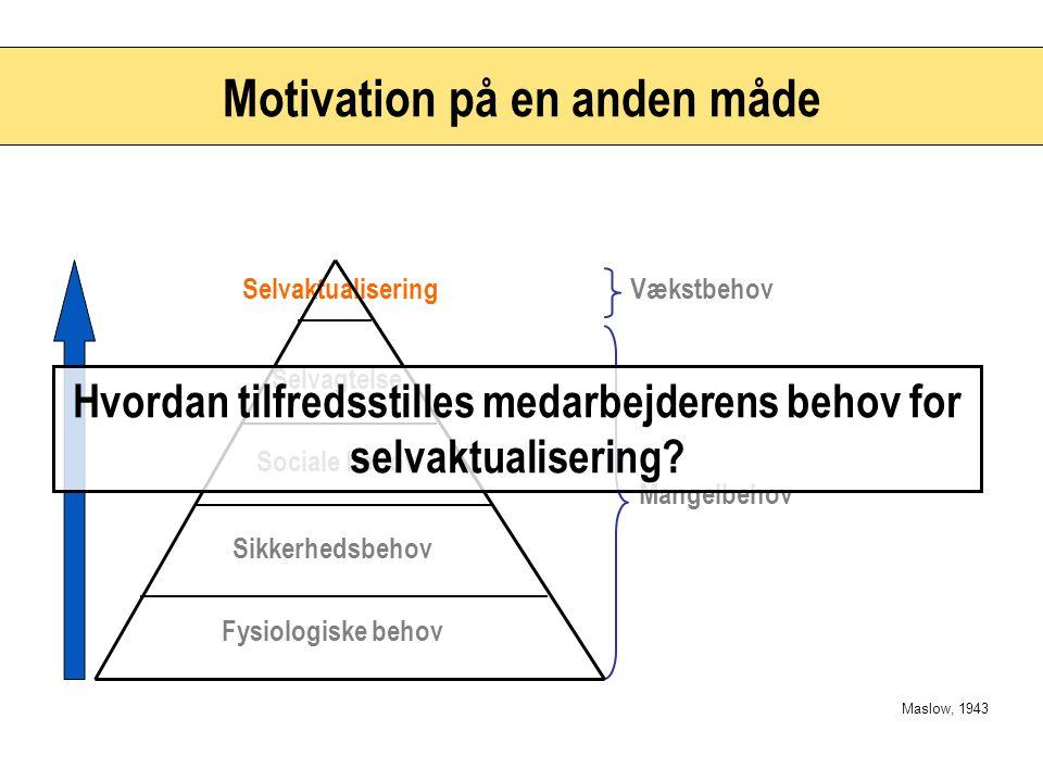Motivation på en anden måde
