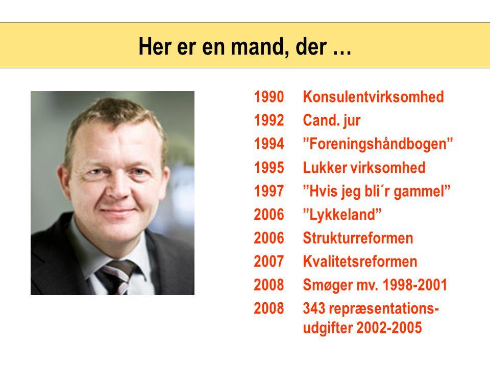 Her er en mand, der … 1990 Konsulentvirksomhed 1992 Cand. jur