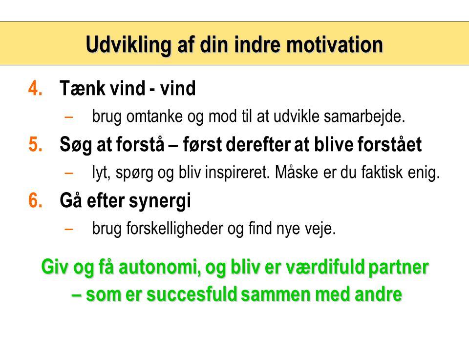 Udvikling af din indre motivation