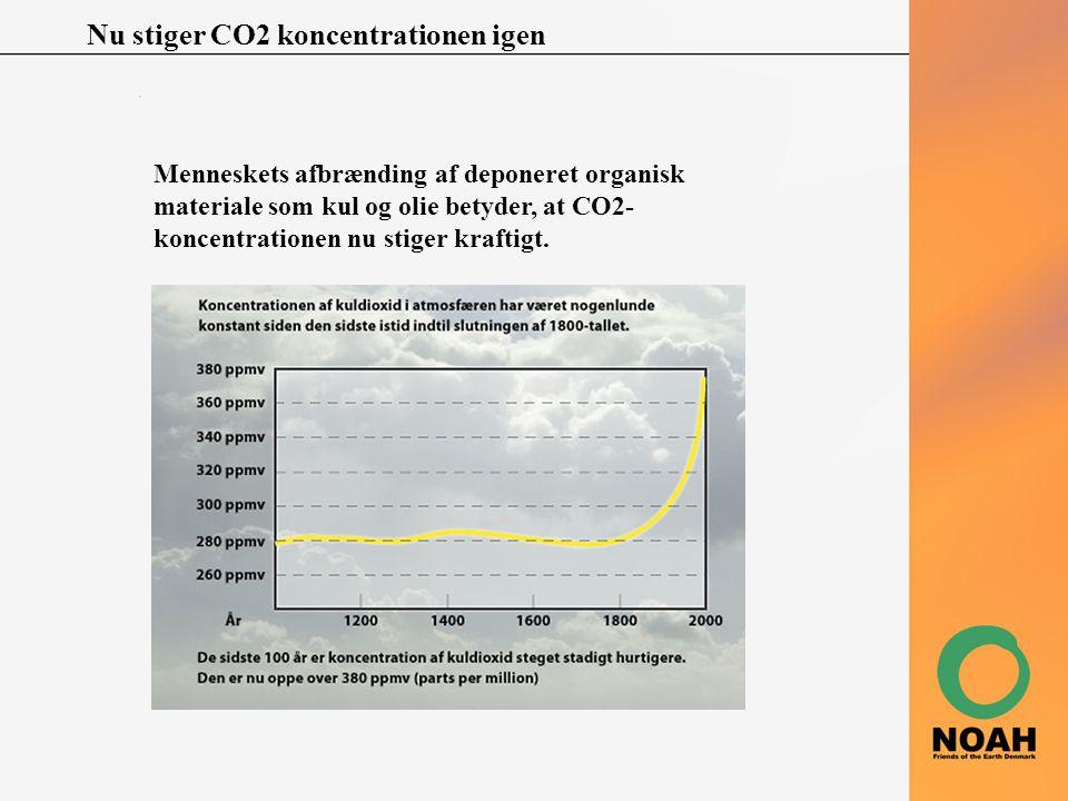 Nu stiger CO2 koncentrationen igen