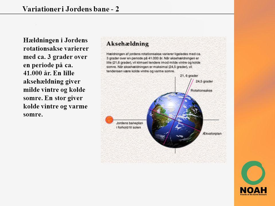 Variationer i Jordens bane - 2