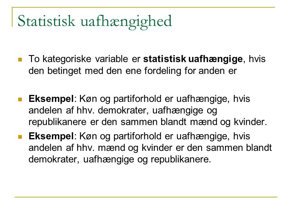 Statistisk uafhængighed