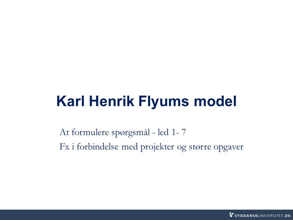 Karl Henrik Flyums model
