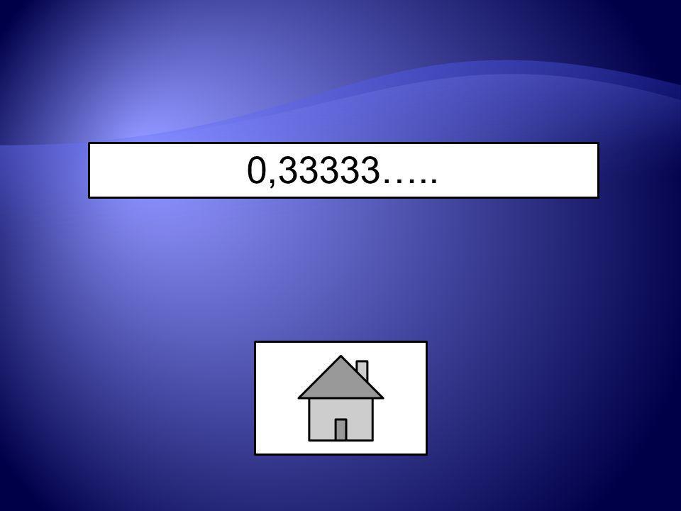 0,33333…..