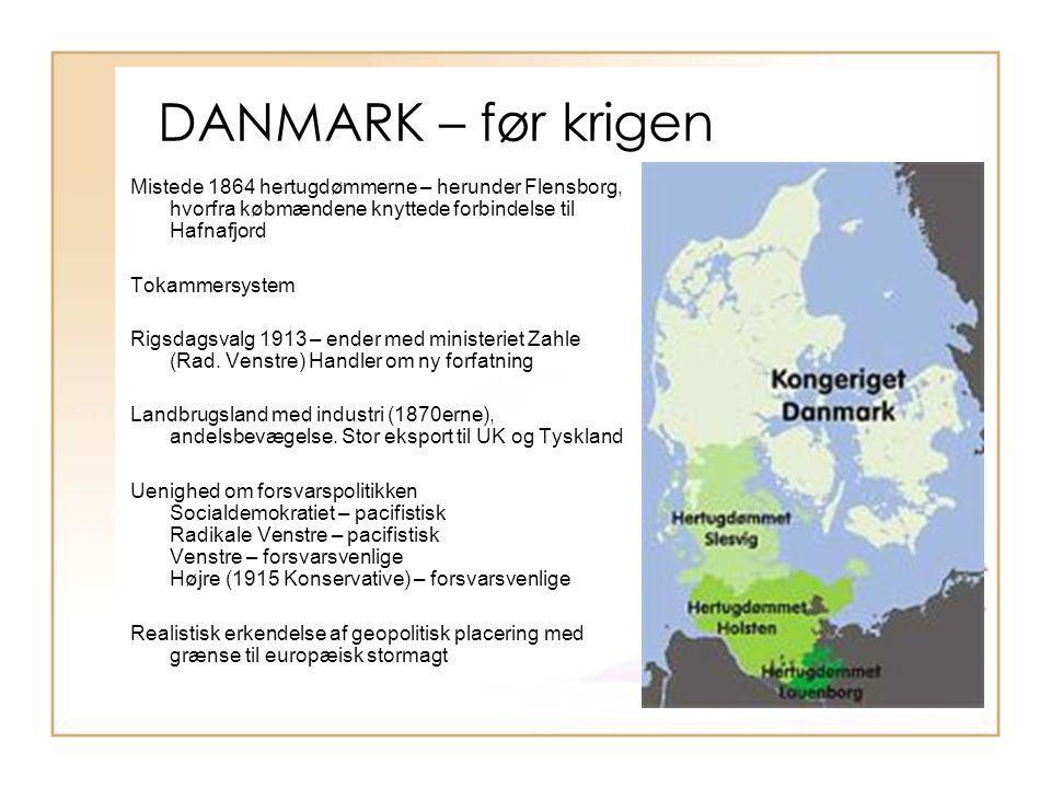 DANMARK – før krigen Mistede 1864 hertugdømmerne – herunder Flensborg, hvorfra købmændene knyttede forbindelse til Hafnafjord.
