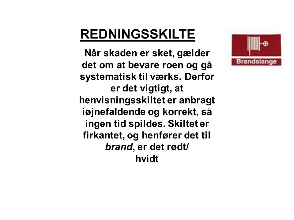 REDNINGSSKILTE