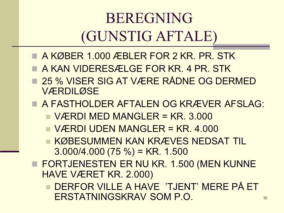 BEREGNING (GUNSTIG AFTALE)