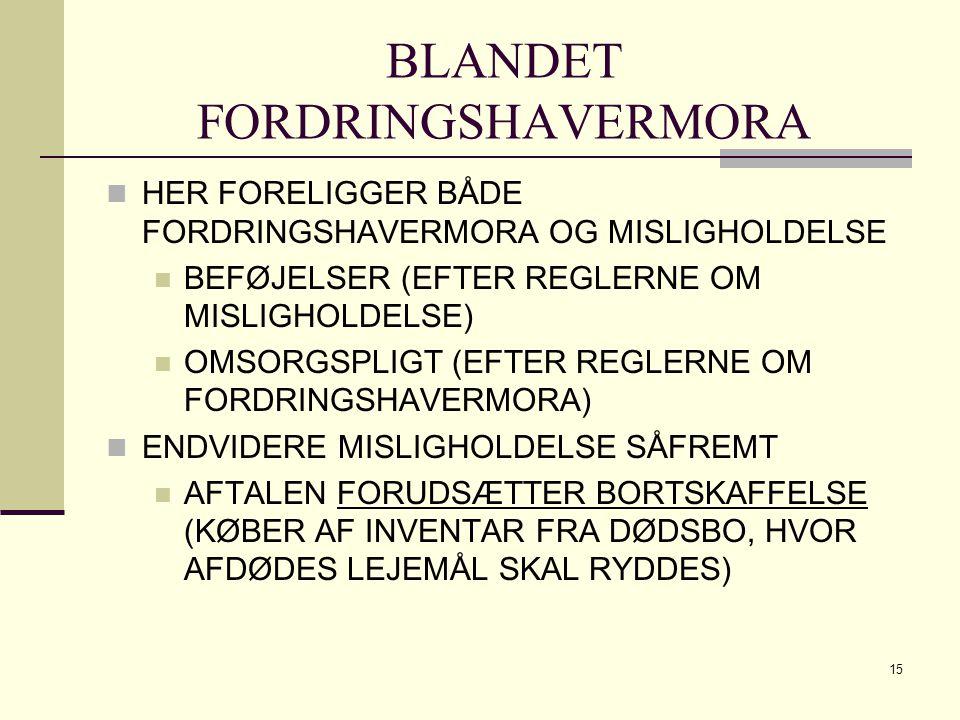 BLANDET FORDRINGSHAVERMORA