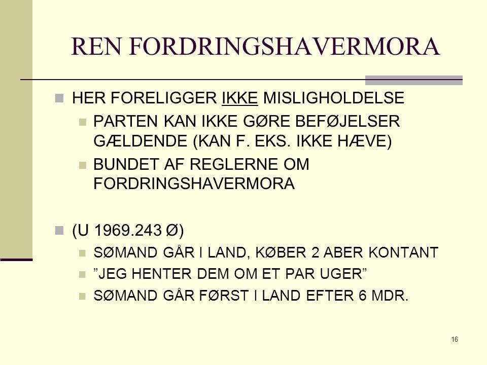 REN FORDRINGSHAVERMORA