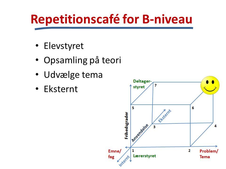 Repetitionscafé for B-niveau