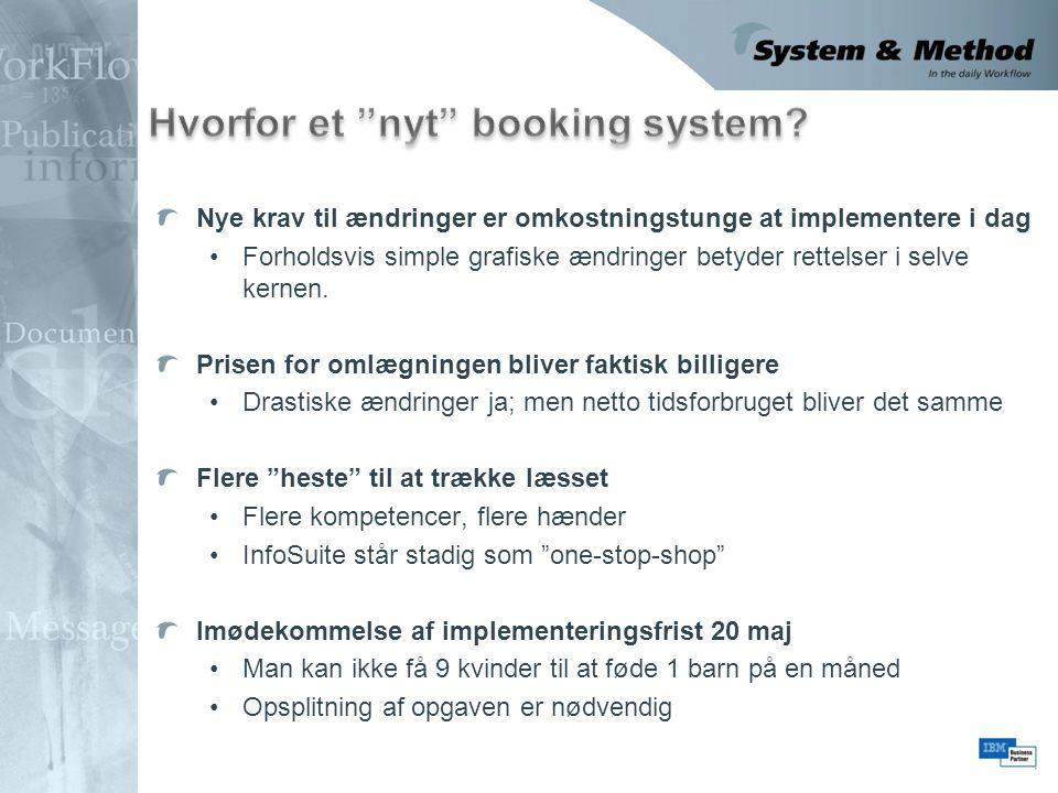 Hvorfor et nyt booking system
