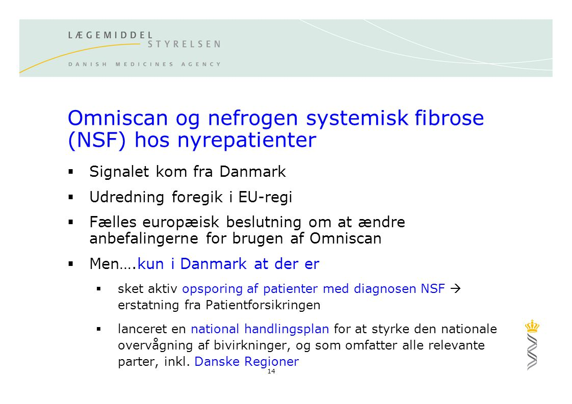 Omniscan og nefrogen systemisk fibrose (NSF) hos nyrepatienter