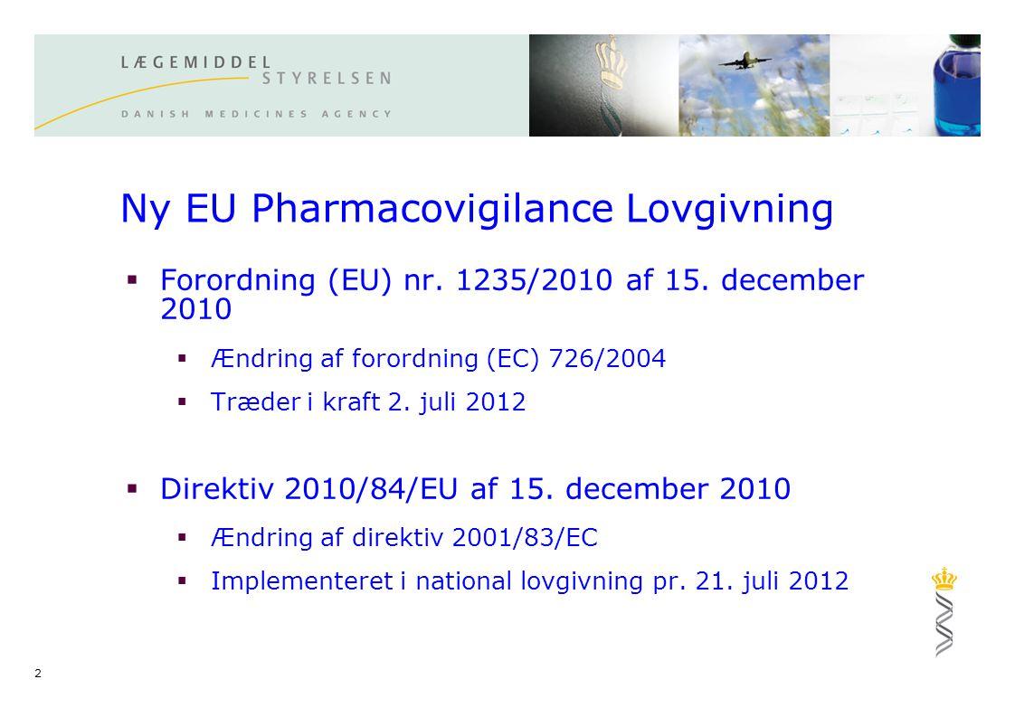Ny EU Pharmacovigilance Lovgivning