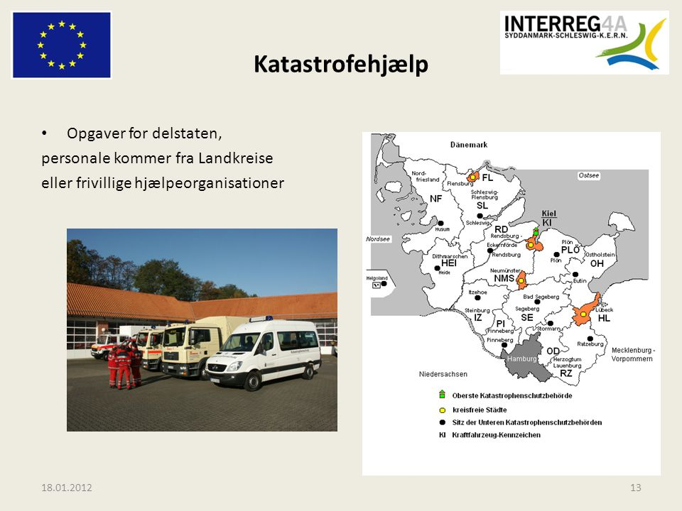 Katastrofehjælp Opgaver for delstaten, personale kommer fra Landkreise