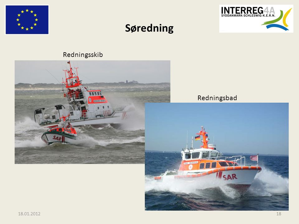 Søredning Redningsskib Redningsbad 18.01.2012