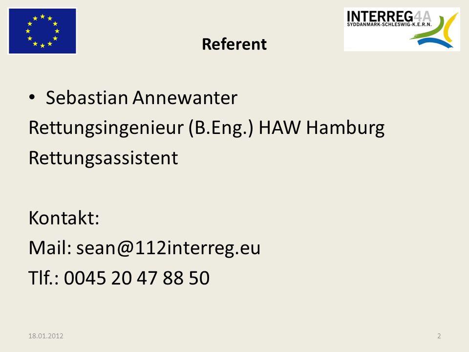 Rettungsingenieur (B.Eng.) HAW Hamburg Rettungsassistent Kontakt: