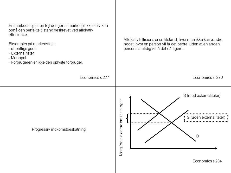 Progressiv indkomstbeskatning S (med externaliteter)