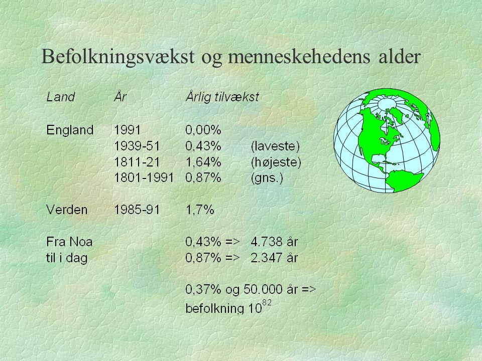 Befolkningsvækst og menneskehedens alder