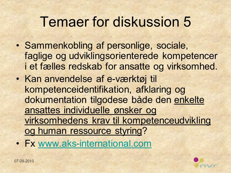 Temaer for diskussion 5