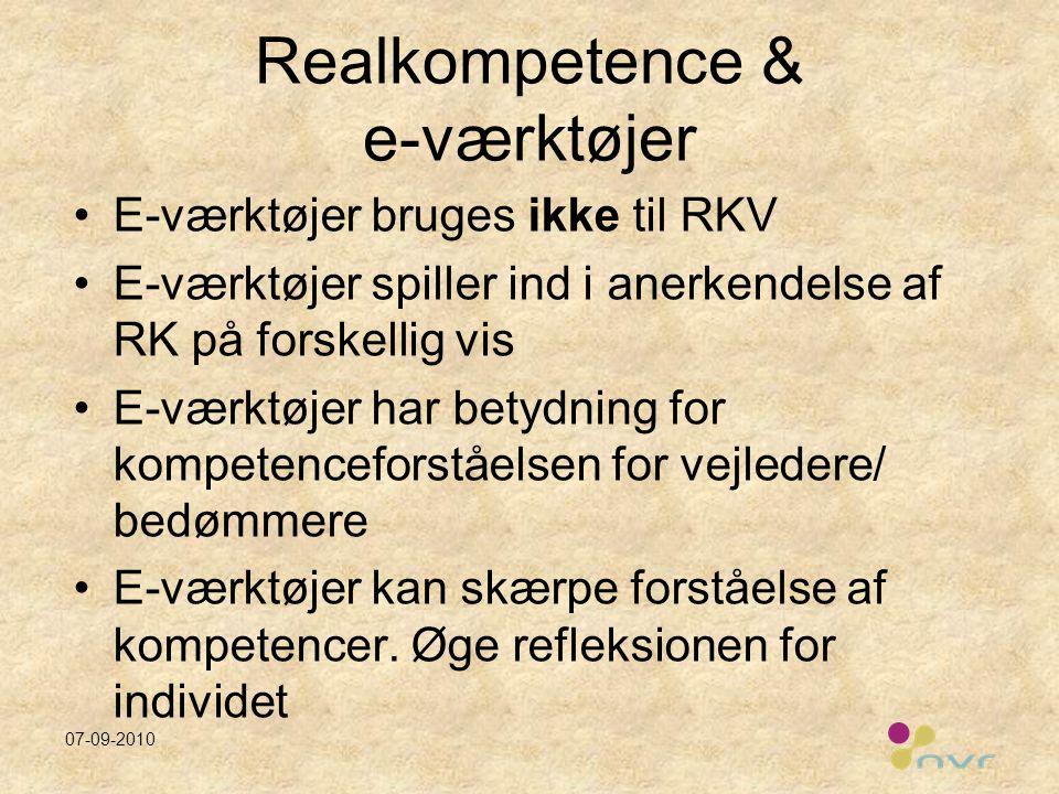 Realkompetence & e-værktøjer