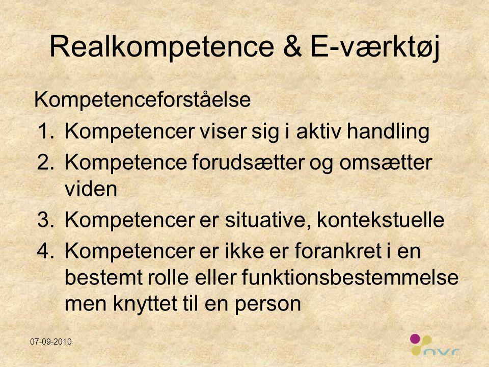 Realkompetence & E-værktøj