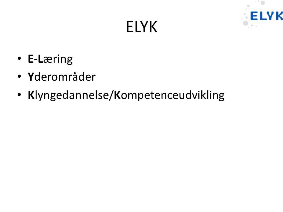 ELYK E-Læring Yderområder Klyngedannelse/Kompetenceudvikling