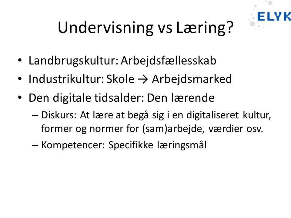Undervisning vs Læring