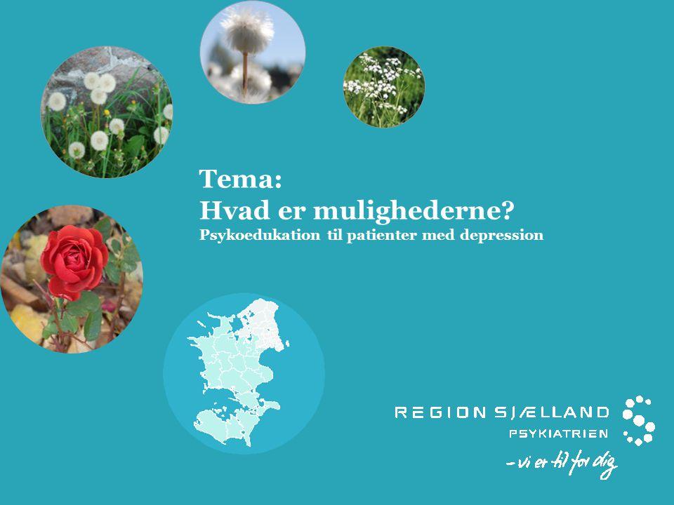 Tema: Hvad er mulighederne Psykoedukation til patienter med depression