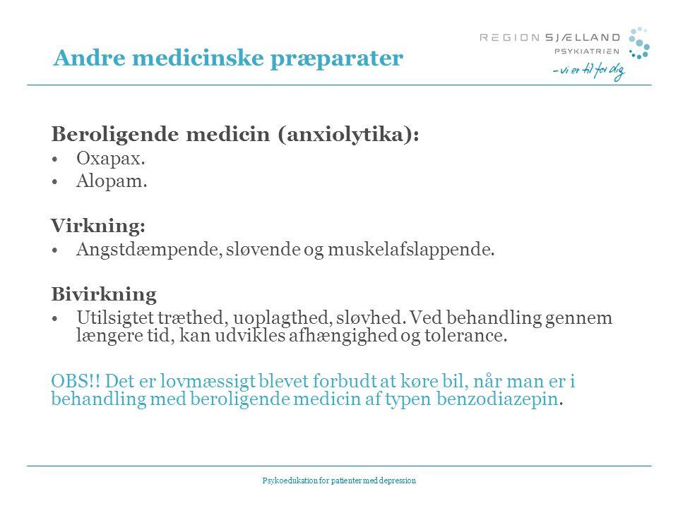 Andre medicinske præparater