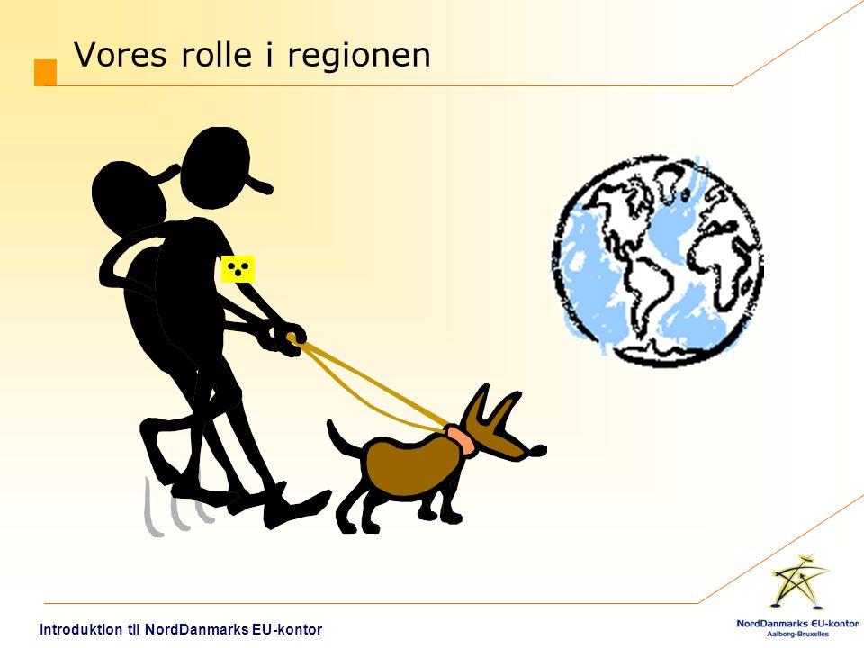 Vores rolle i regionen Introduktion til NordDanmarks EU-kontor