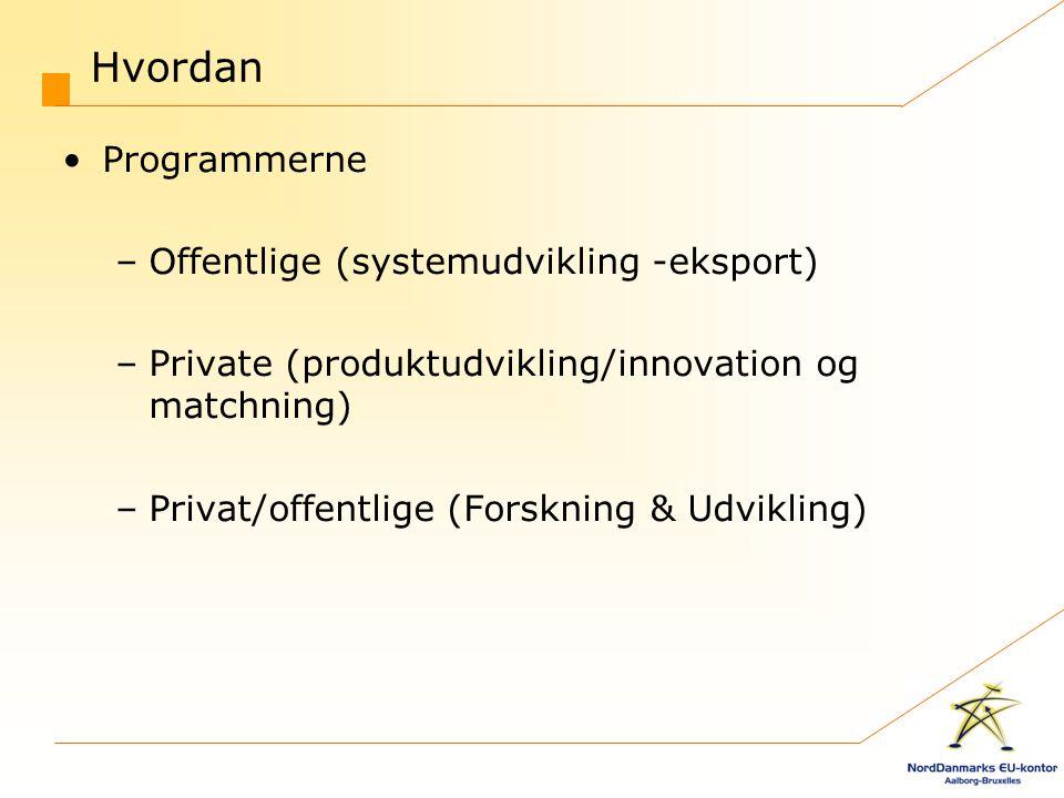 Hvordan Programmerne Offentlige (systemudvikling -eksport)