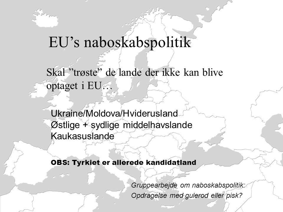 EU's naboskabspolitik