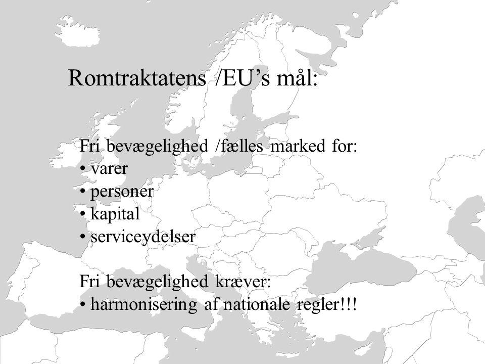 Romtraktatens /EU's mål: