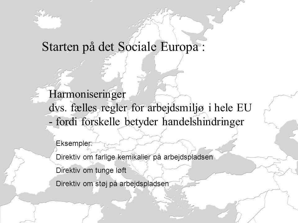 Starten på det Sociale Europa :