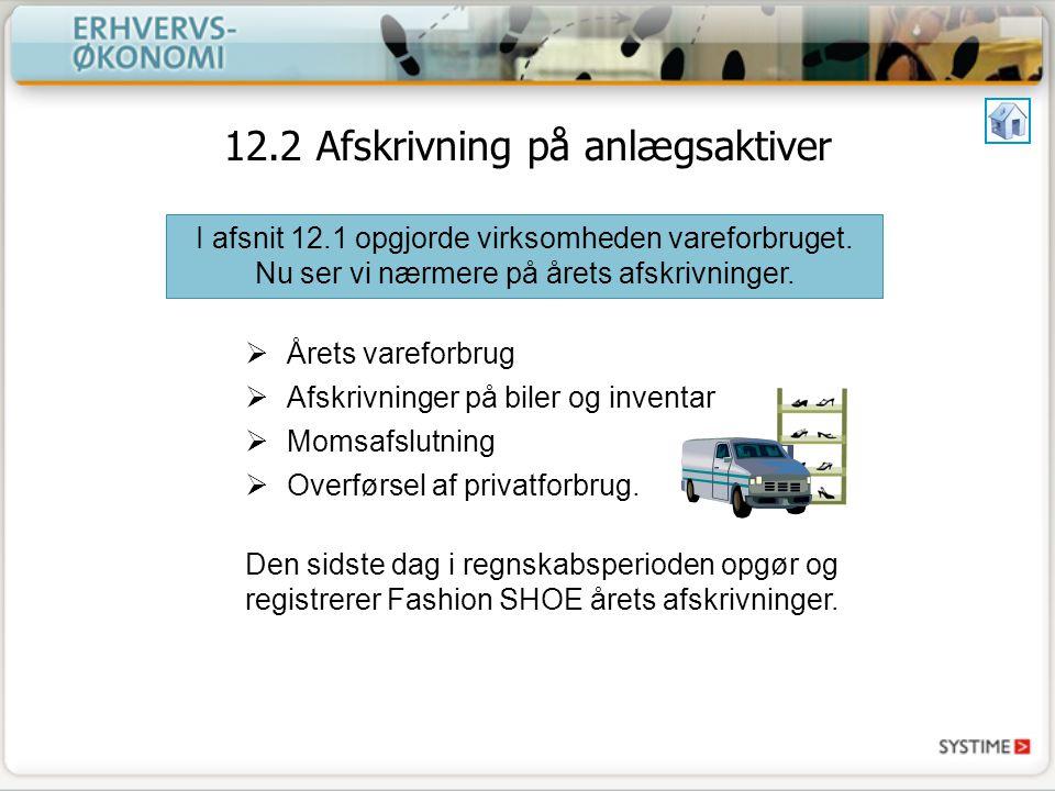 12.2 Afskrivning på anlægsaktiver