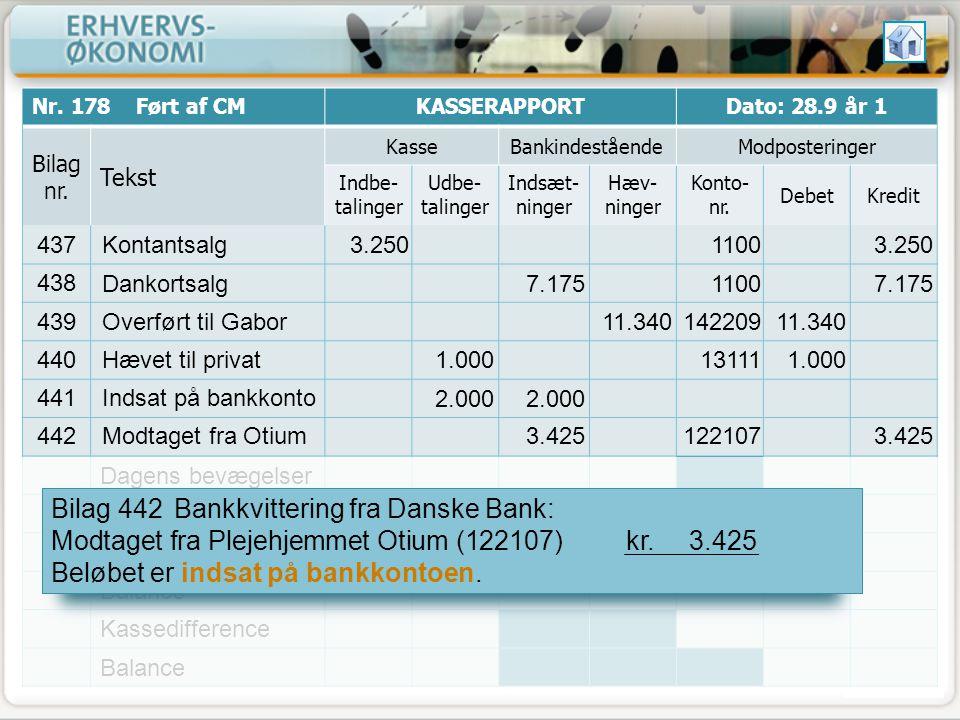 Bilag 442 Bankkvittering fra Danske Bank: