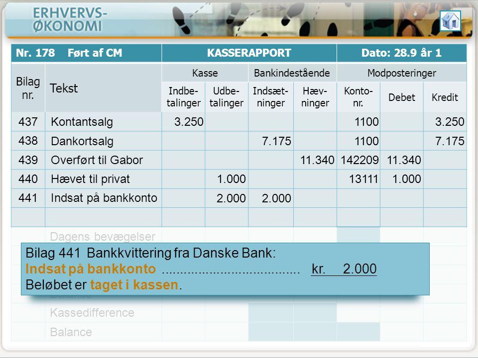 Bilag 441 Bankkvittering fra Danske Bank: