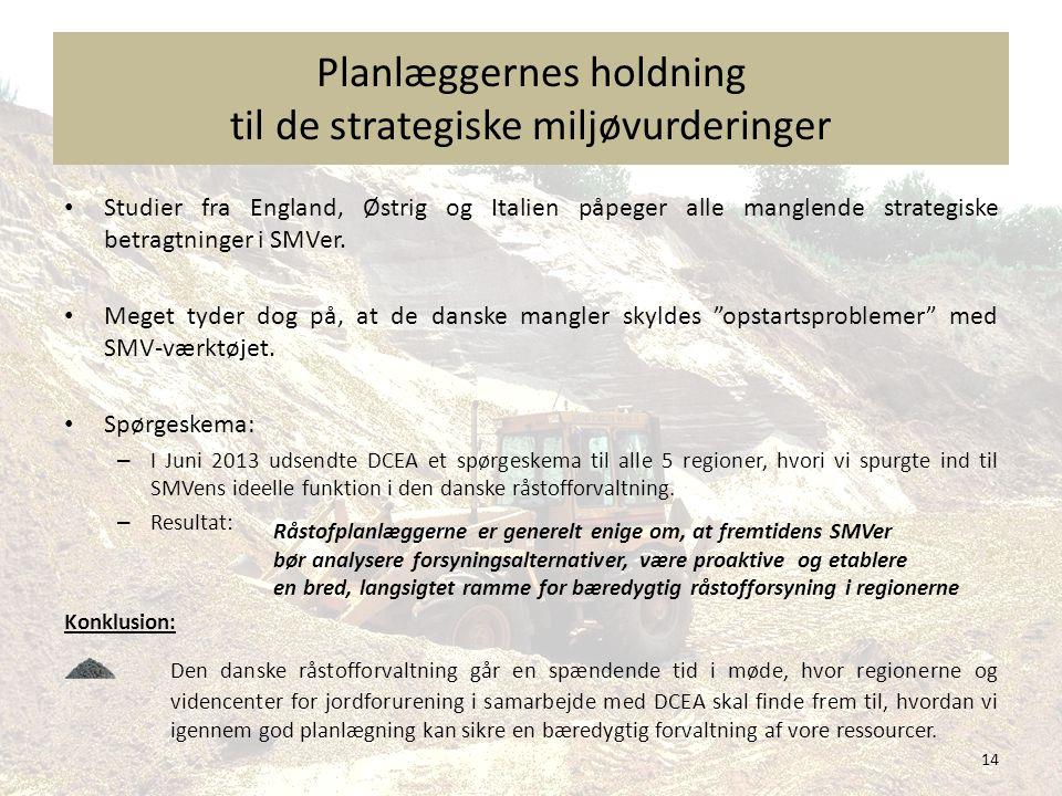 Planlæggernes holdning til de strategiske miljøvurderinger