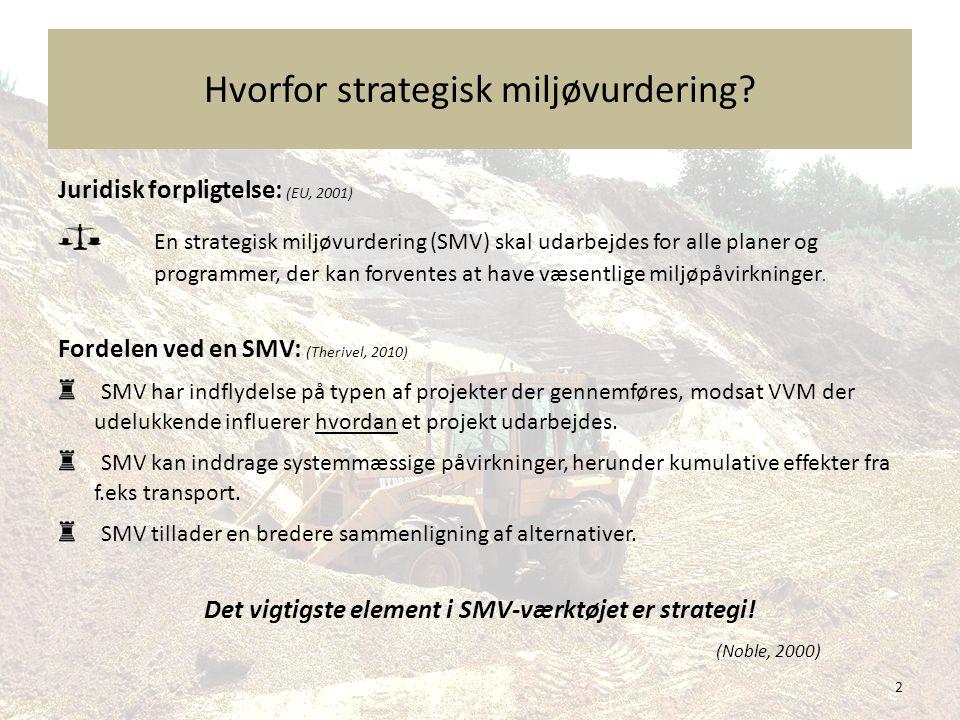 Hvorfor strategisk miljøvurdering