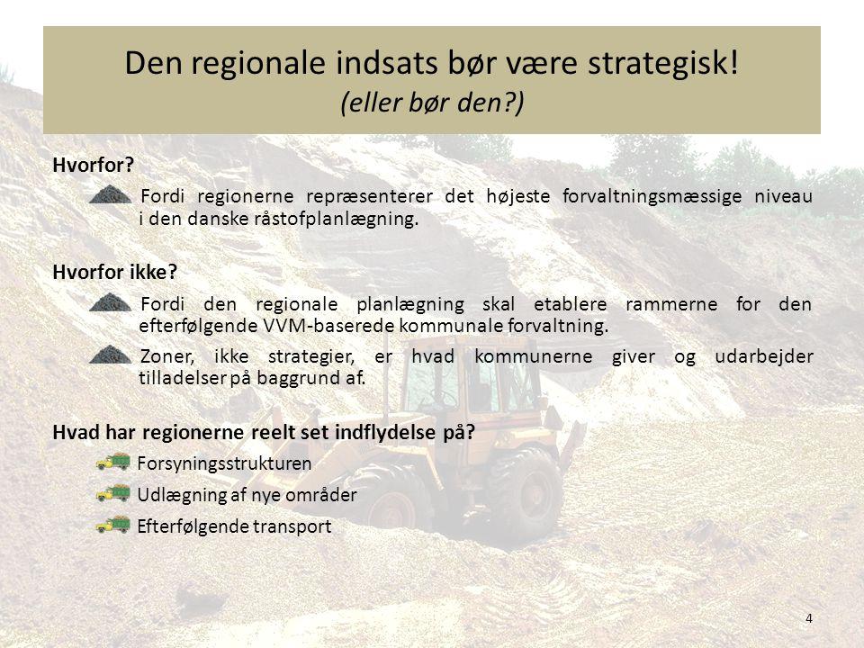 Den regionale indsats bør være strategisk! (eller bør den )