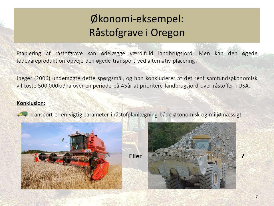 Økonomi-eksempel: Råstofgrave i Oregon