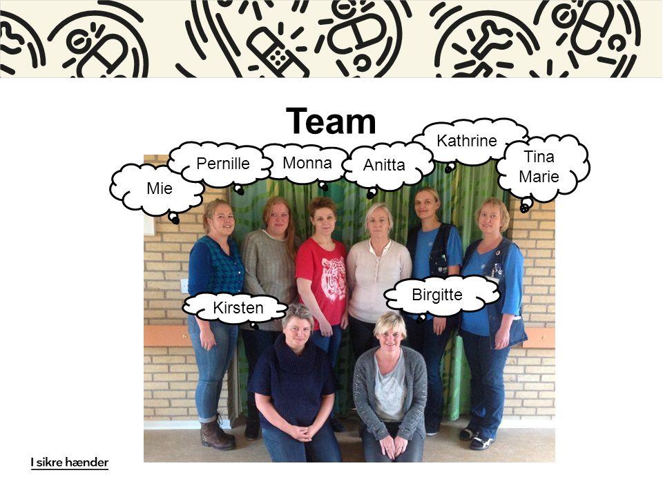 Team Kathrine Tina Marie Pernille Monna Anitta Mie Birgitte Kirsten