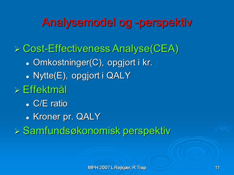 Analysemodel og -perspektiv