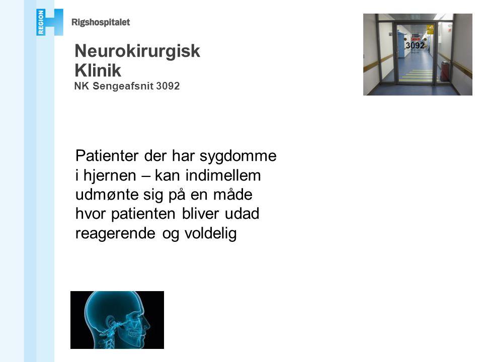 Neurokirurgisk Klinik NK Sengeafsnit 3092