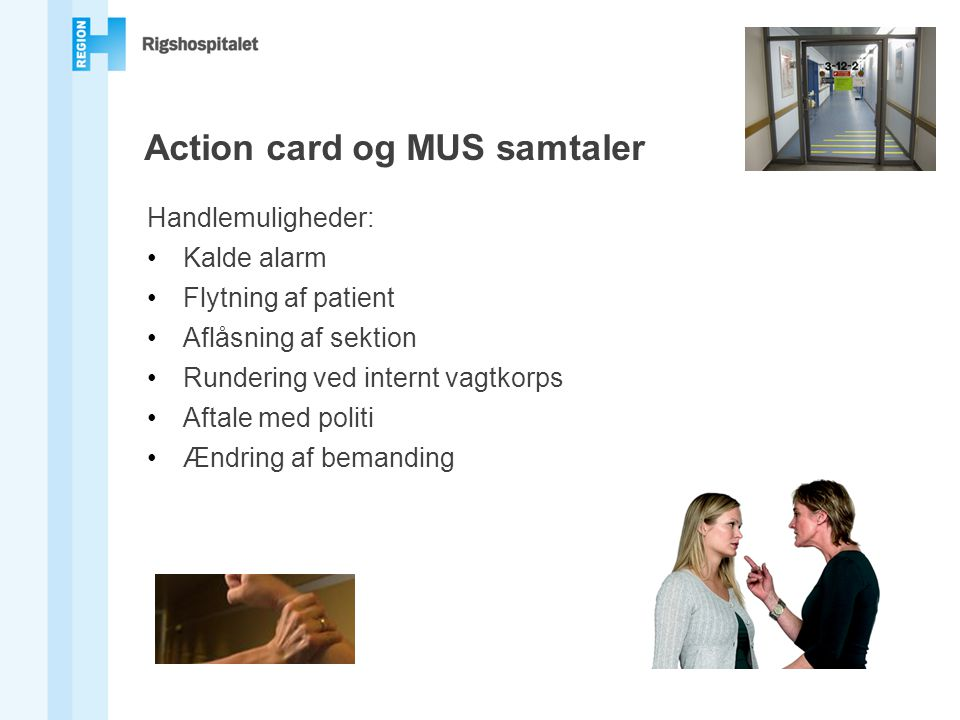 Action card og MUS samtaler