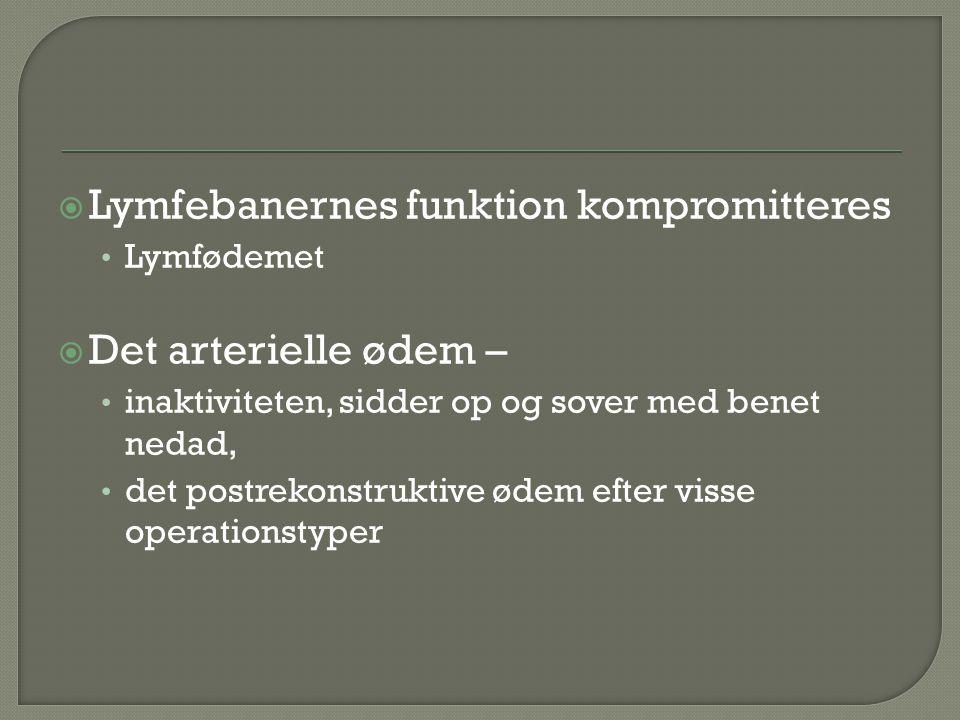 Lymfebanernes funktion kompromitteres
