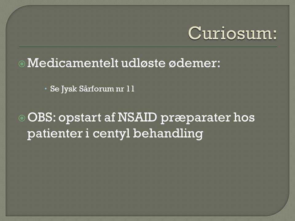 Curiosum: Medicamentelt udløste ødemer: