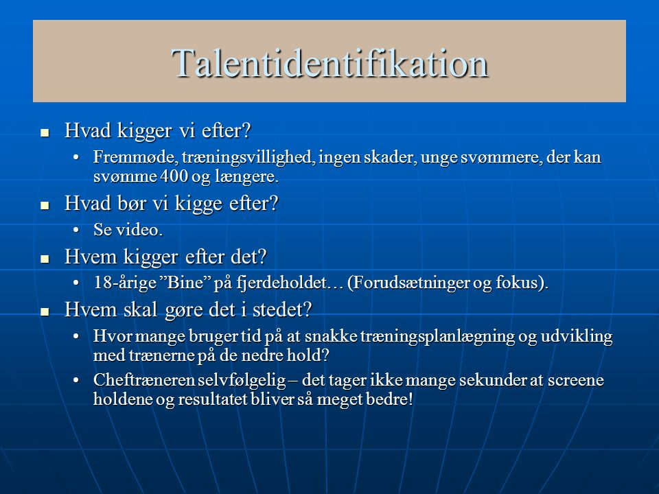 Talentidentifikation